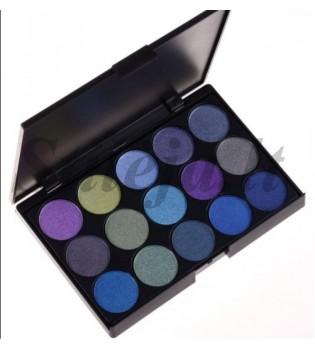 15 spalvų akių šešėlių paletė