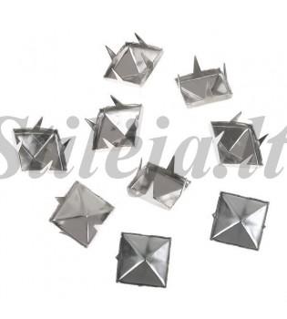 100 vnt. 8 mm sidabrinės kniedės