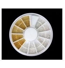 3D aukso - sidabro spalvos dekoracijos ND081