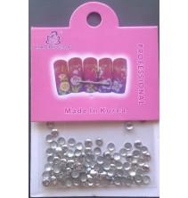 Sidabro spalvos kniedės nagams dekoruoti ND086