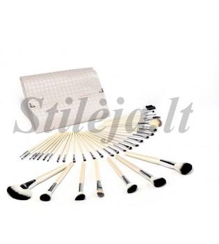 36 makiažo šepetėlių rinkinys baltu dėklu MS085
