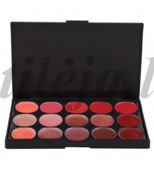 15 spalvų lūpų dažų paletė LP006