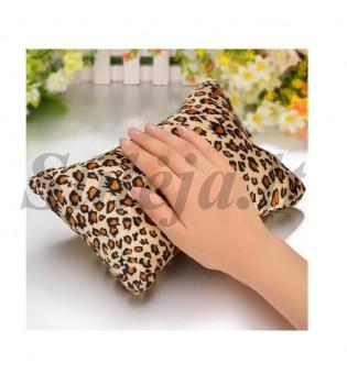 Leopardo rašto imitacijos rankų pagalvėlė