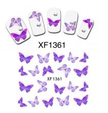 Nagų dekoravimo lipdukai drugeliai