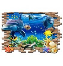 Sienų lipdukas Delfinai