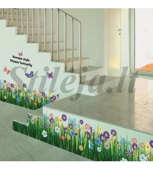 Sienų lipdukas žolės dekoracijos