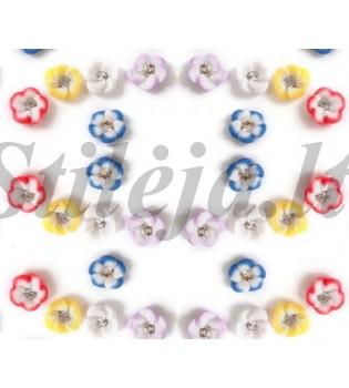 24 keraminiai slyvų žiedai ND010