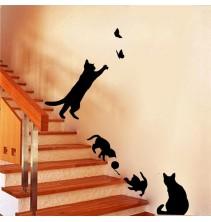 Sienų lipdukas Katė ir drugelis