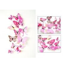 3D rausvi magnetiniai drugeliai