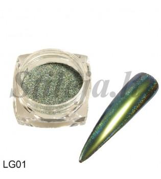 Chameleoninė veidrodinė nagų pudra LG01