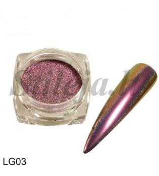 Chameleoninė veidrodinė nagų pudra LG03
