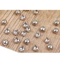100 vnt. 10 mm sidabrinės spalvos kniedės KND003