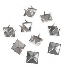 100 vnt. 12 mm sidabrinės kniedės KND048