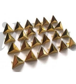 100 vnt. 15 mm auksinės spalvos kniedės KND010