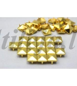 100 vnt. 6 mm auksinės kniedės KND030