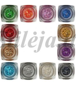 12 spalvų UV gelių rinkinys UVS015
