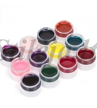 12 spalvų UV gelių rinkinys UVS018