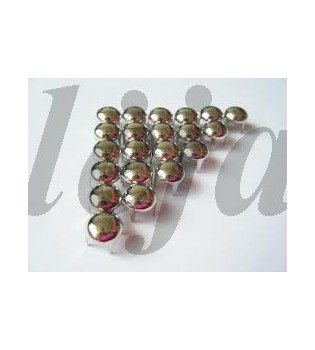 100 vnt. 15 mm sidabrinės kniedės KND045