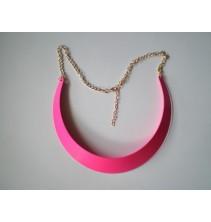 Rožinės spalvos metalinė koljė KP051