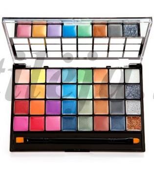32 perlamutrinių spalvų kreminiai akių šešėliai