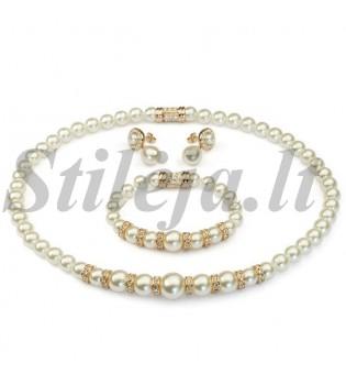 Paauksuotas perlų rinkinys PA007