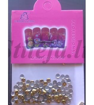 Aukso spalvos kniedės nagams dekoruoti ND084