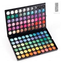 120 spalvų akių šešėlių paletė + 24 makiažo šepetėlių rinkinys su dėklu