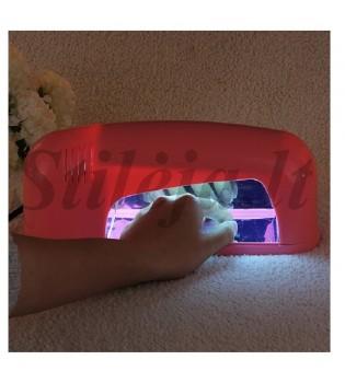 9 W rausva UV lempa gelinio nagų lako džiovinimui