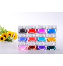 12 skaidrių spalvų UV gelių rinkinys ND102