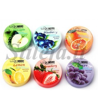 Apelsinų kvapo 32 drėgnos servetėlės ND148