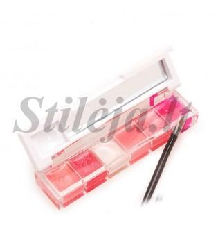 6 spalvų lūpų dažų mini paletė LP010