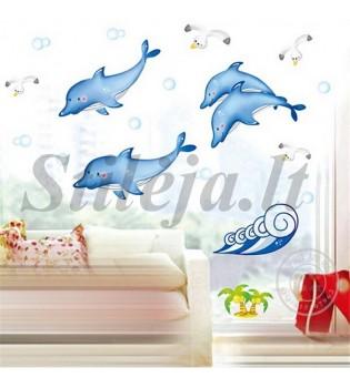Sienų lipdukas Delfinai SL018