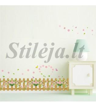 Sienų lipdukas Žolė ir drugeliai