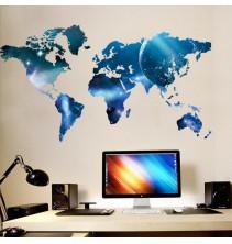 Sienų lipdukas Pasaulio žemėlapis