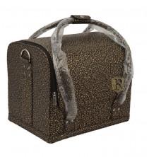 Rudas ornamentais margintas profesionalus kosmetikos lagaminas 004