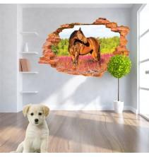 Sienų lipdukas 3D Žirgas