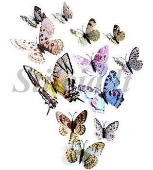 3D įvairiaspalviai magnetiniai drugeliai