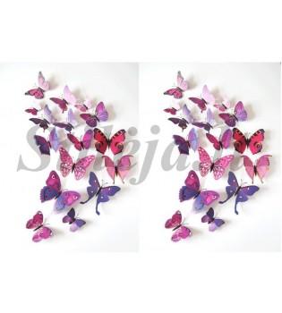 3D mėlyni magnetiniai drugeliai