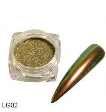 Chameleoninė veidrodinė nagų pudra LG02