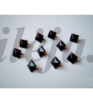 100 vnt. 12 mm juodos kniedės ND006