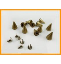 100 vnt. 15 mm bronzinės kniedės KND009