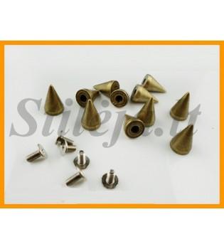 100 vnt. 9.5 mm bronzinės kniedės KND013