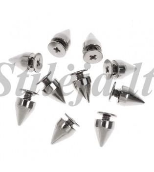 100 vnt. 9.5 mm sidabrinės kniedės KND014