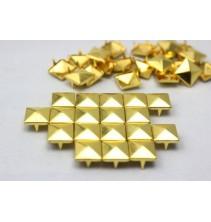 100 vnt. 12 mm auksinės kniedės KND027