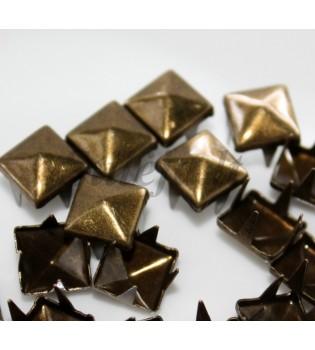 100 vnt. 12 mm bronzinės kniedės KND034