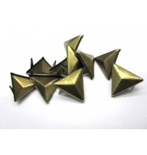 100 vnt. 15 mm bronzinės kniedės KND035