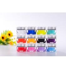12 matinių spalvų UV gelių rinkinys ND018