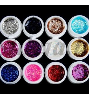 12 spalvų UV gelių rinkinys UVS017